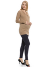 Wool Cashmere Blend Cowl Neck Sweater in Camel