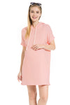 Long Beach Dress in Baby Pink