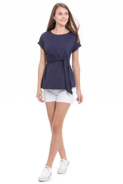 Positano Navy Maternity and Nursing Top