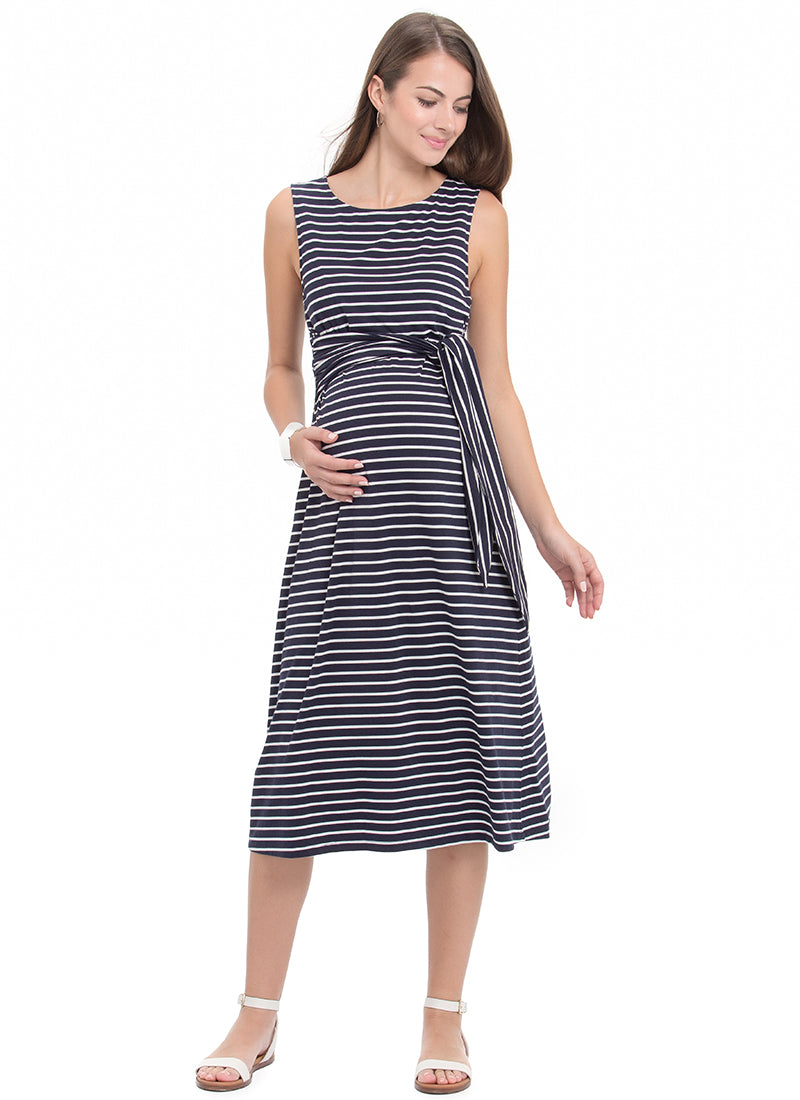 fda7bfbac9e Salina Maternity and Nursing Midi Dress