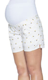 Floral Embroidered Shorts with Essential Bellyband