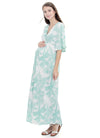 Palm Print Maternity Dress