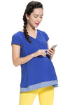 Protect Baby Set with Anti-Radiation Maternity Top in Blue