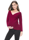 Cashmere Blend Criss Cross Maternity and Nursing Sweater