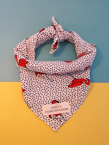 polka dog bandana by hunt and howlingmoon