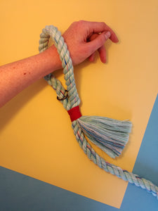 cotton rope dog leash with tassel detail by hunt and howlingmoon