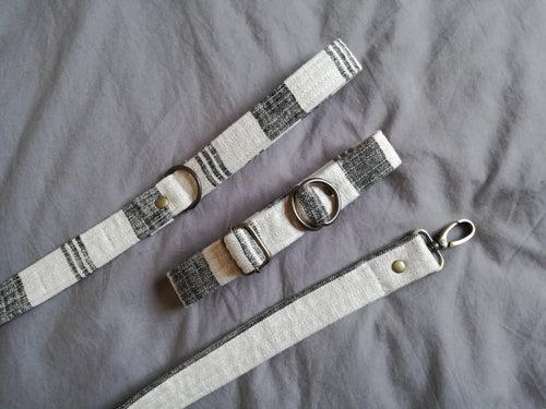 eco friendly dog collar made from linen