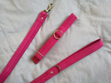 velvet dog collars and pink dog leads