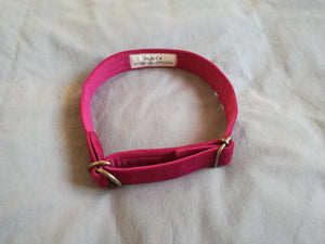 pink velvet dog collars made in Cape Town