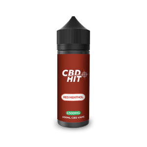 CBD Hit red Menthol E-Liquid 1500mg -100ml