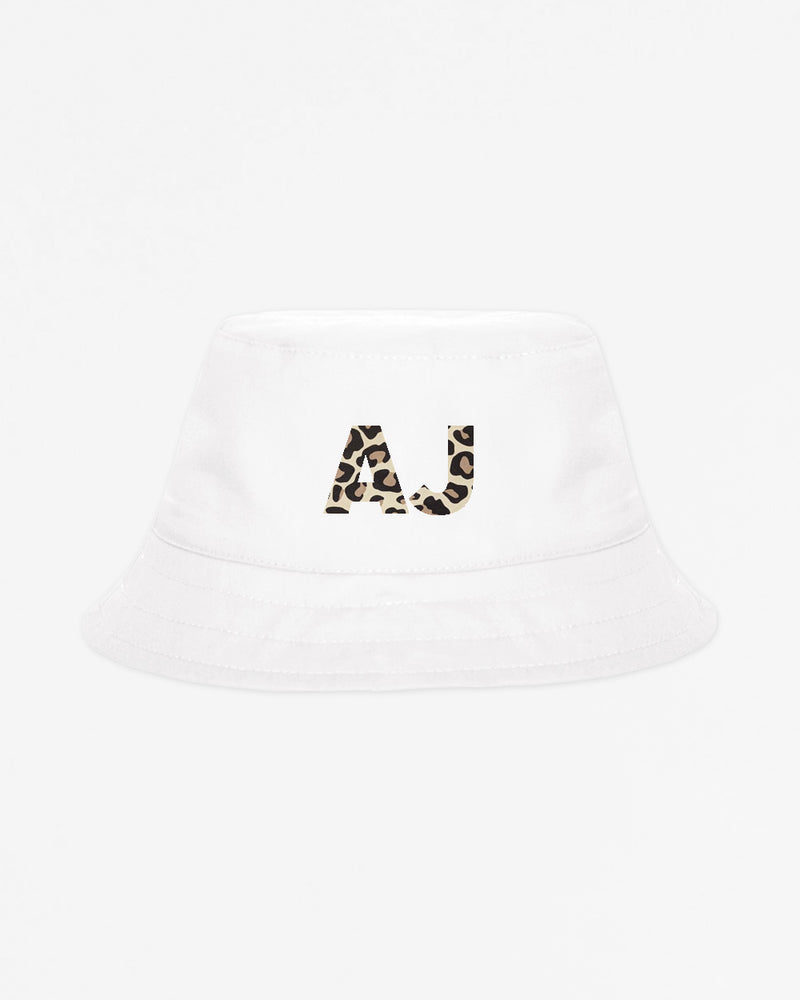 "SAMPLE Initials Block ""AJ"" White 
