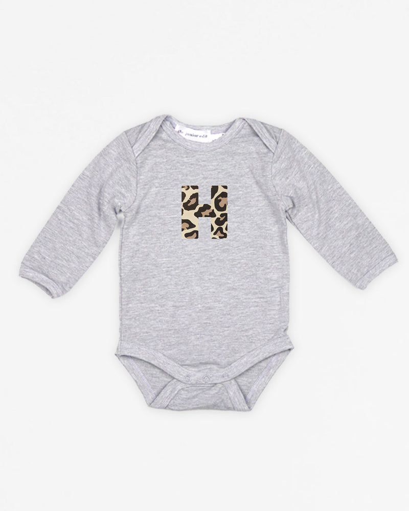 Letter Animal | Bodysuit Long Sleeve
