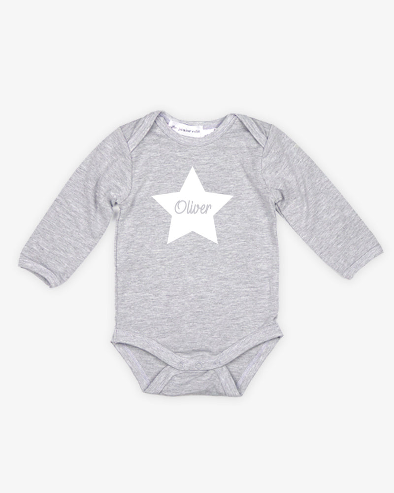 Name Star | Bodysuit Long Sleeve