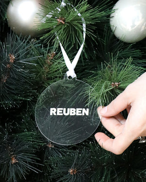 Name Clear Bauble | Christmas Decoration