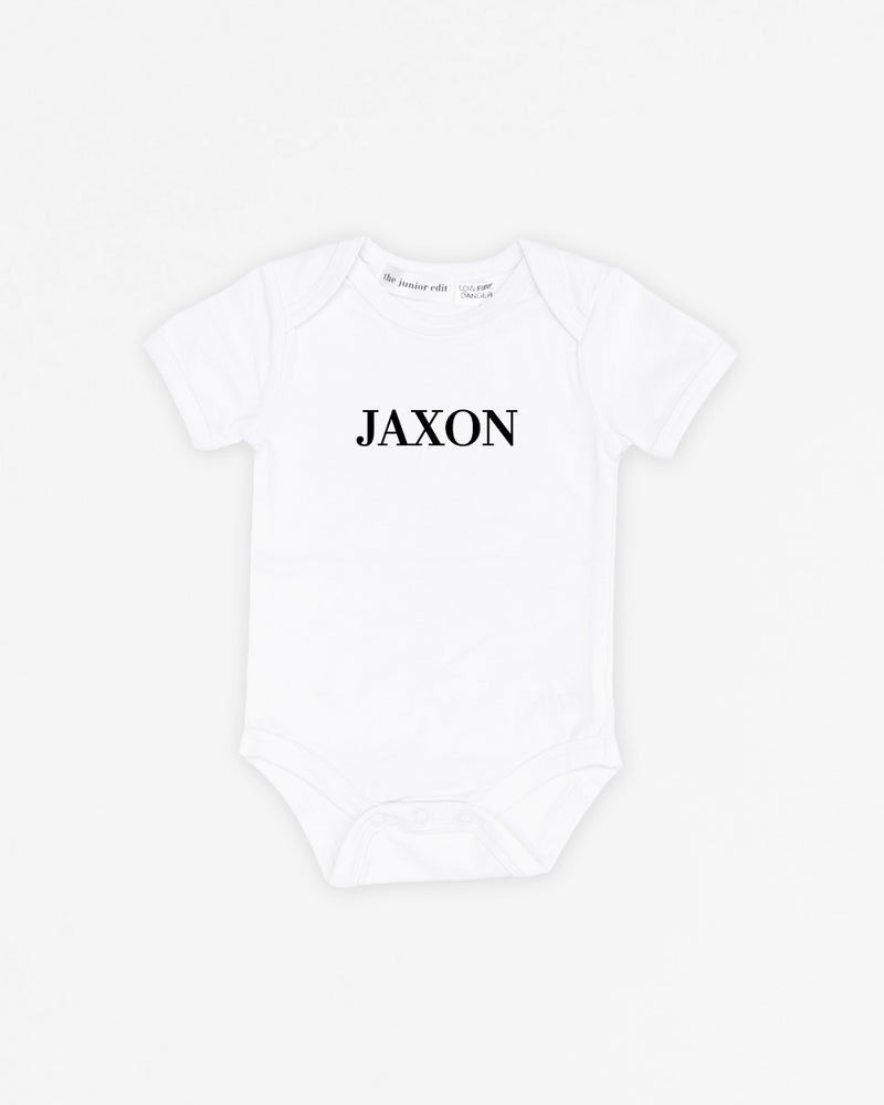 "SAMPLE ""JAXON"" Name Classic White 