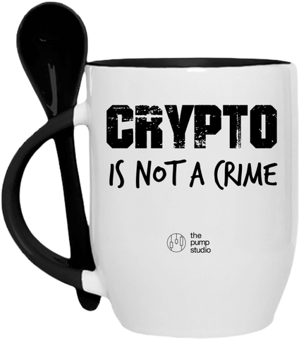 Tasse Cuillère 'Crypto is not a Crime'