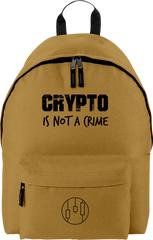 Sac à Dos 'Crypto is Not a Crime'