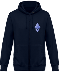 Sweat Capuche Zippé 'Ethereum'