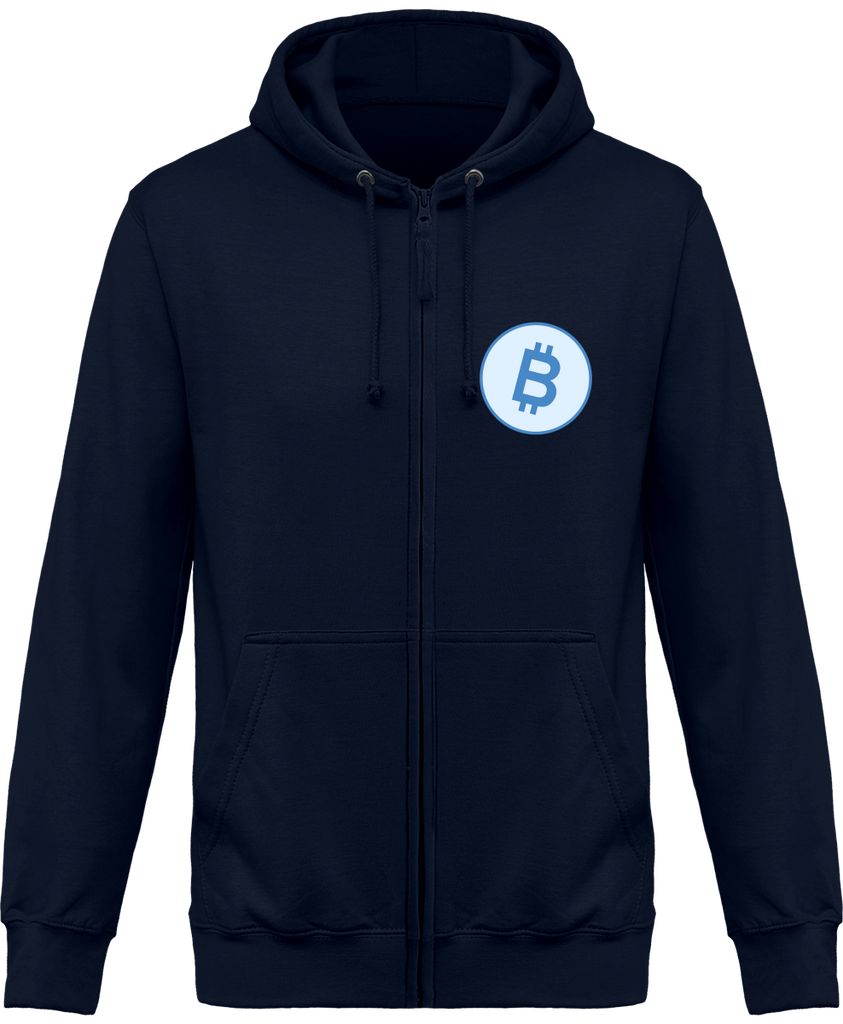 Sweat Capuche Zippé 'Bitcoin'