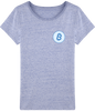 Image of T-Shirt Femme 'Blue Bitcoin'