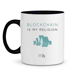 Mug 'Blockchain is my Religion'