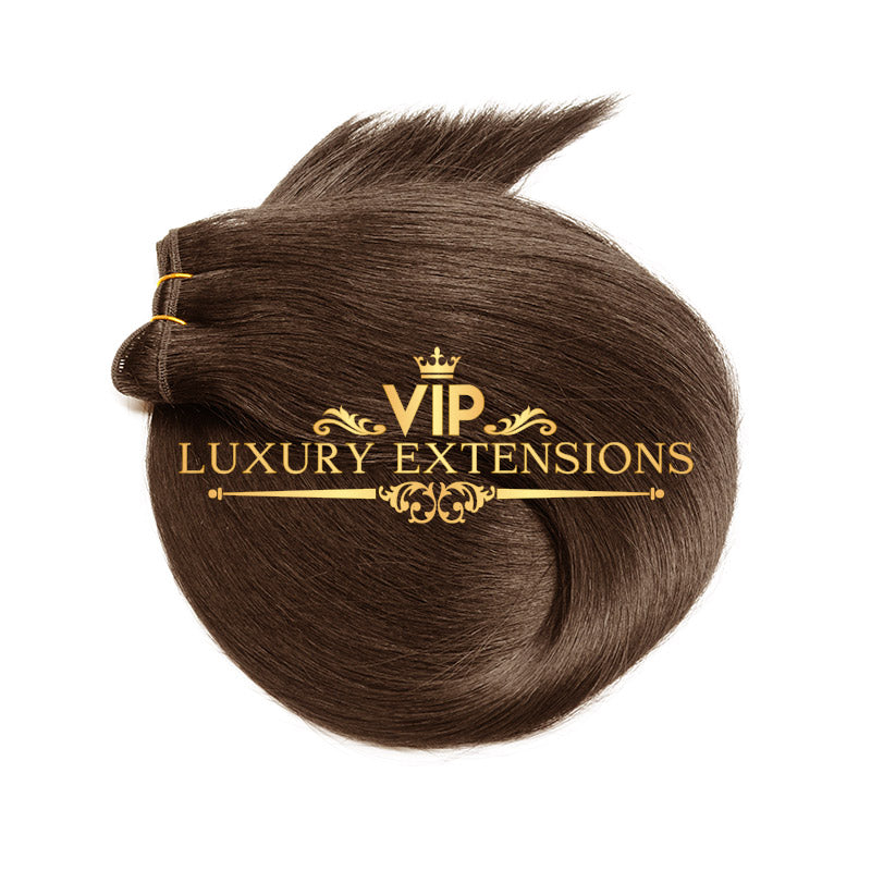 Weave 22 Diamond Collection Virgin Remy Hair Rich Brown Straight