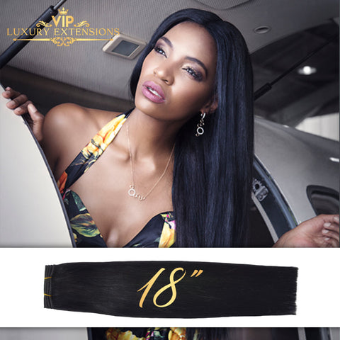 Weave 18″ Diamond Collection Virgin Remy Hair Jet Black Straight