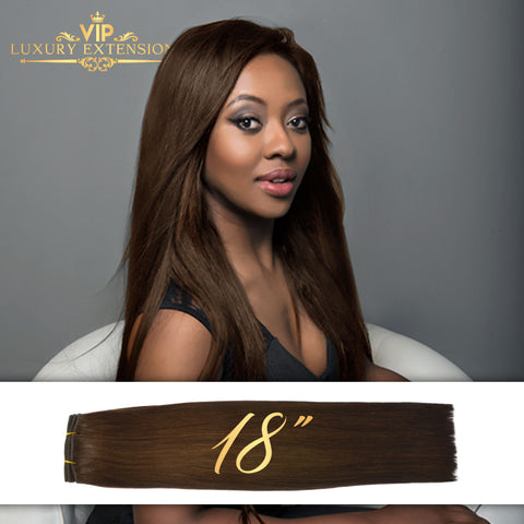 Weave 18″ Diamond Collection Virgin Remy Hair Rich Brown Straight