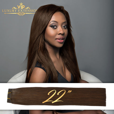 Weave 22″ Diamond Collection Virgin Remy Hair Rich Brown Straight