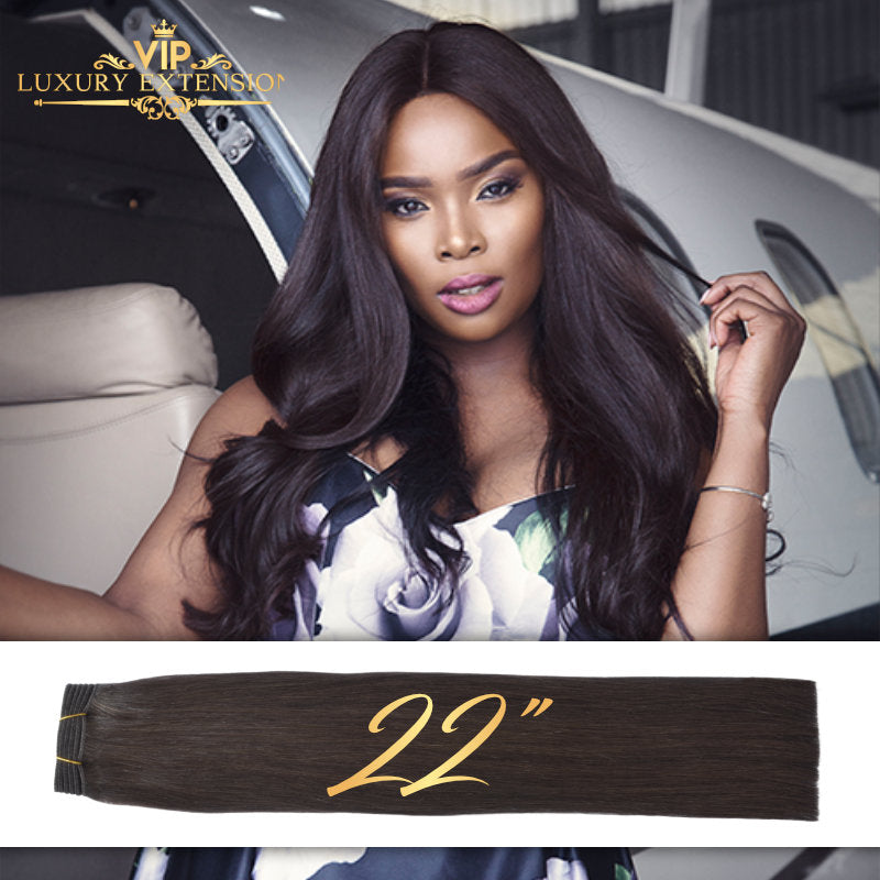Weave 22 Diamond Collection Virgin Remy Hair Soft Black Straight