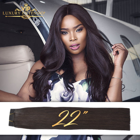 Weave 22″ Diamond Collection Virgin Remy Hair Soft Black Straight