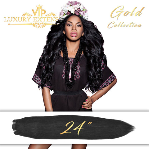 Weave 24″ Gold Collection Virgin Remy Hair Jet Black Straight