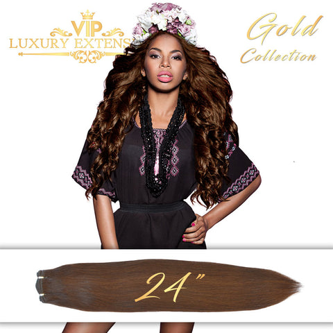 Weave 24″ Gold Collection Virgin Remy Hair Rich Brown Straight