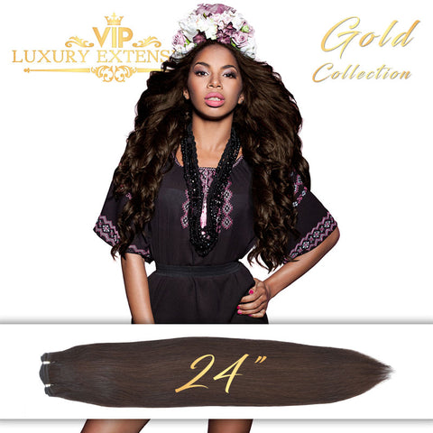 Weave 24″ Gold Collection Virgin Remy Hair Soft Black Straight