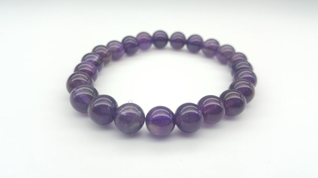 Dark purple amethyst bracelet