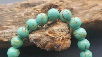 Turquoise reconstructed bracelet