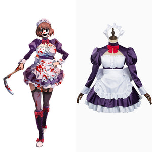 High-Rise Invasion Maid-fuku Kamen Cosplay Kostüme Dienstmädchen Kleid Halloween Karneval Outfits Version B