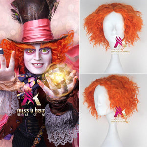 Alice In Wonderland Johnny Depp Mad Hatter Hutmacher Perücke Cosplay - cosplaycartde