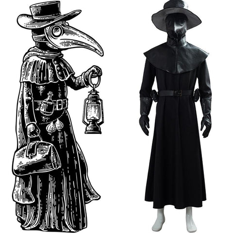 Steampunk Plague Doctor Pestartz Pest Doktor Kostüm Set Cosplay Halloween Kostüm Version C