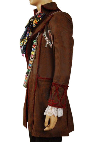 Alice In Wonderland Johnny Depp Mad Hatter Jacke Alice im Wunderland Hutmacher Cosplay Kostüm