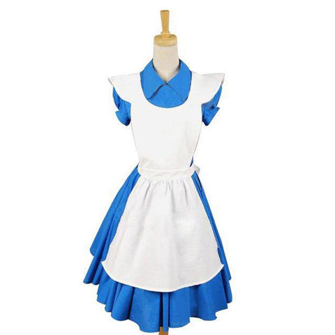 Alice In Wonderland Tim Burton Alice Kleid Cosplay Kostüm - cosplaycartde