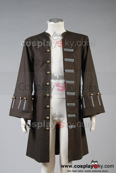 Pirates Of The Caribbean Fluch der Karibik Jack Sparrow Nur Jacke Cosplay Kostüm