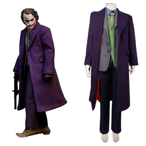 Batman Dark Knight Joker 6 pcs Set * Wolle Mantel Cosplay Kostüm