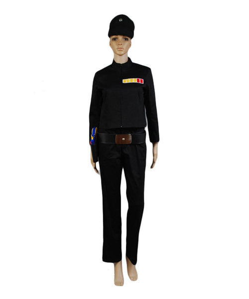 Star Wars Krieg der Sterne Sternenkriege Imperial Officer Uniform Juno Eclipse Rogue Shadow Kostüm Damen Version
