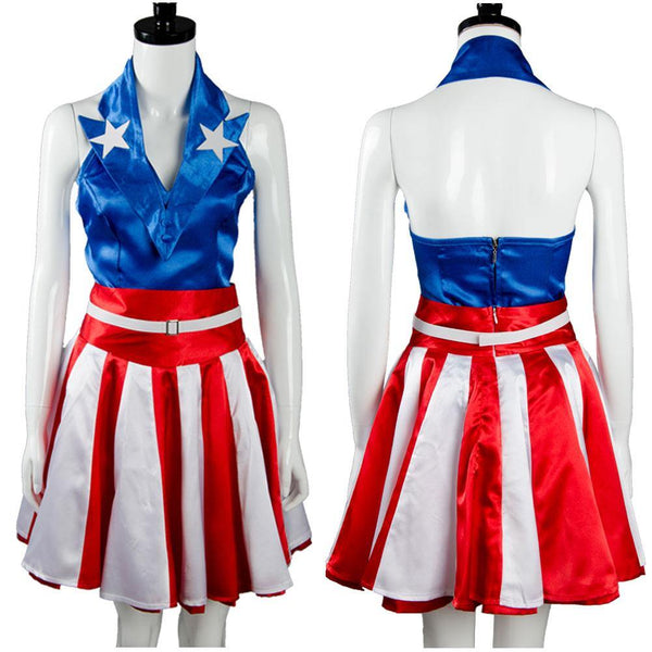 The Avengers Captain America USO Mädchen Uniform Cosplay Kostuem