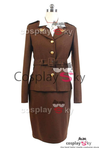 Captain America: The First Avenger Agent Peggy Carter Uniform Cosplay Kostüm