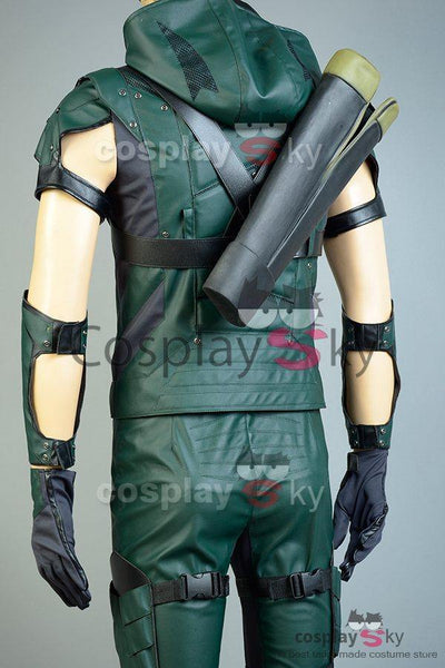 Green Arrow Season 4 Kunstleder Cosplay Kostüm (ohne Köcher)