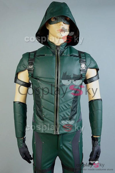 Green Arrow Season 4 Kunstleder Cosplay Kostüm (ohne Köcher) - cosplaycartde