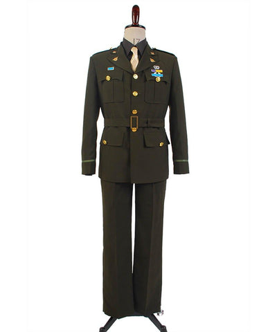 Captain America Steve Rogers WWII Army SSR Uniform Cosplay