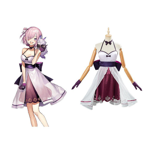 Fate/Grand Order FGO Mash Kyrielight Cosplay Kleid Halloween Karneval Kostüm